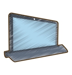 Drawing laptop technology electronic gadget vector
