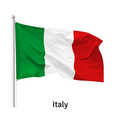 Flag italian republic vector