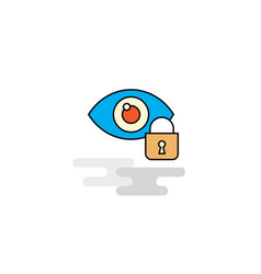flat eye locked icon vector image