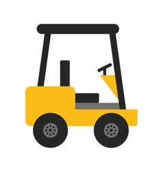 forklift machine lifting icon vector image