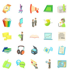 freelancer icons set cartoon style vector image