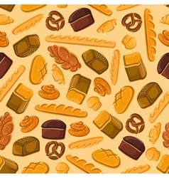 Fresh bread seamless pattern for bakery design vector image