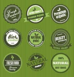 fresh product label vector image