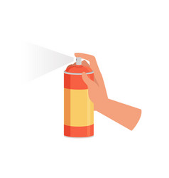 Hand holding spraying can cleaning and housework vector