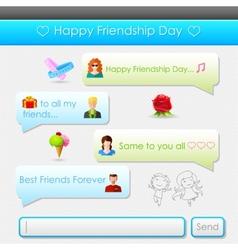 Happy Friendship Day message vector