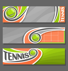 horizontal banners for tennis vector image