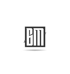 Initial letter bm logo template design vector