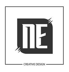 Initial letter ne logo template design vector