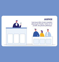 Justice web banner template with text space vector