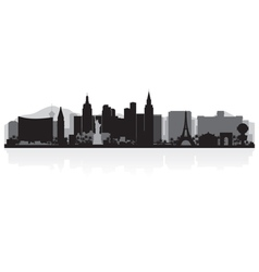 Las Vegas USA city skyline silhouette vector