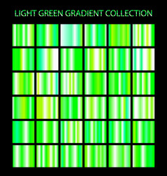 Light green gradients collection glowing patterns vector