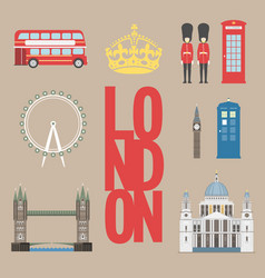 London travel info graphic vector