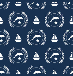 nautical spirit pattern vector image