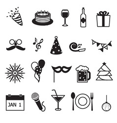 new year party and celebration items vector image
