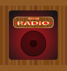 old transistor radio vector image