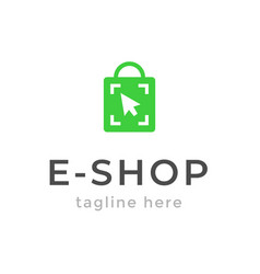 online shop logo design ecommerce sale discount or vector image