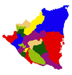 political map of nicaragua vector image