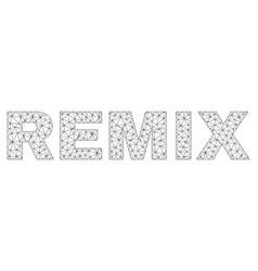 Polygonal carcass remix text label vector