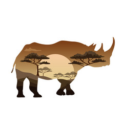 Poster on themes wild animals of africa vector