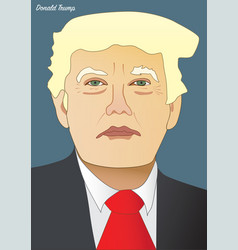 president donald trump vector image