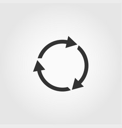 recycle icon isolated on white background icon vector image