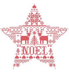 scandinavian christmas pattern noel vector image