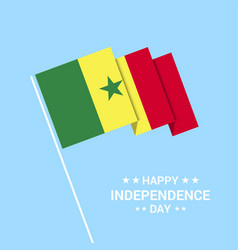 Senegal independence day typographic design with vector