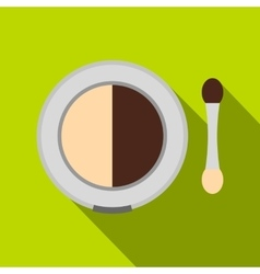 Shadow palette with applicator vector image