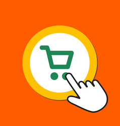 shopping cart icon shopping buying concept hand vector image
