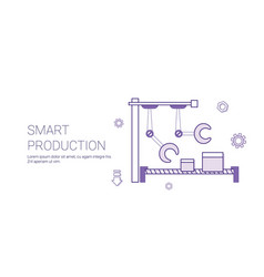 smart production modern industry concept banner vector image