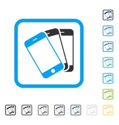 Smartphones framed icon vector