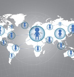 Social network around the world vector