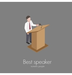 Speaker saying speech vector image
