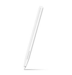 stylus pencil for digital art white mockup vector image