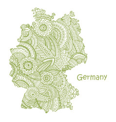 textured map germany hand drawn ethno vector image