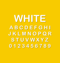 the original alphabet white letters on yellow vector image