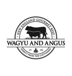Vintage angus cattle logo vector