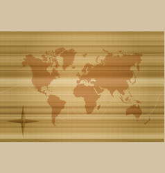 Vintage world map concept template vector