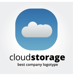 Abstract storage icon logotype concept isolated on vector image