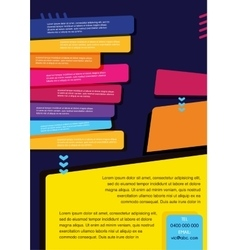 brochure design templates collection vector image vector image