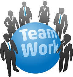 Business people team work ball vector image vector image