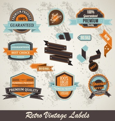 label collection vector image