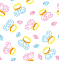seamless rings vector image vector image