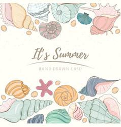 Summer paradise holiday marine card vector
