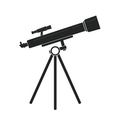telescope in black vector image