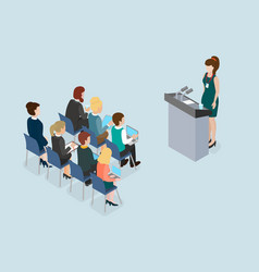 business lecture public speech coaching and vector image vector image