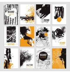 Grunge Texture Card Set vector image vector image
