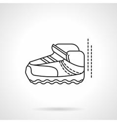 Single sneaker flat line design icon vector image