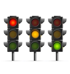 Traffic Light Sequence vector image vector image