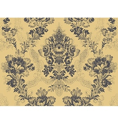 Victorian floral pattern abstract flower rose fash vector image